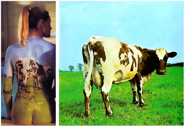 Pink Floyd Back Catalogue Poster Body Paint Atom Heart Mother