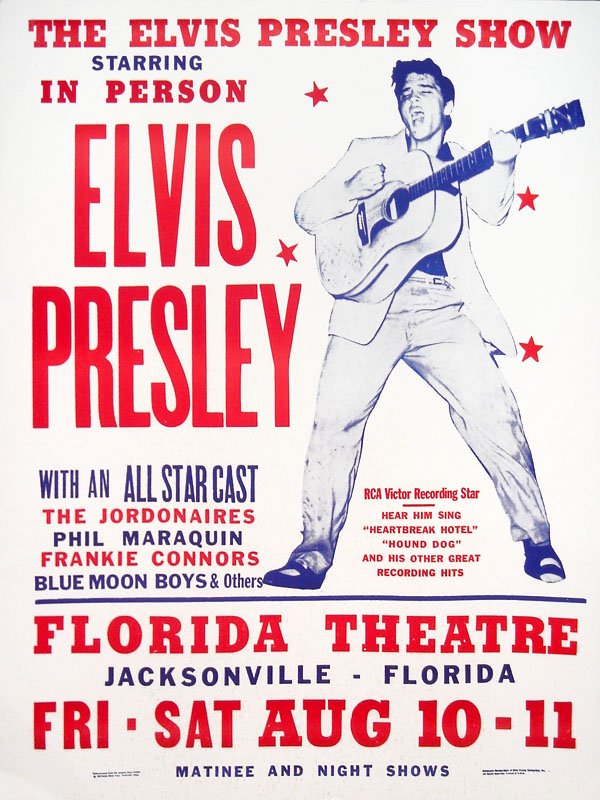 elvis presley hatch poster Fort Homer Hesterly Armory tonsil