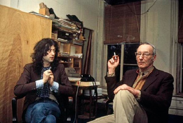 Jimmy Page WIlliam S. Burroughs Led Zeppelin Rock Stars