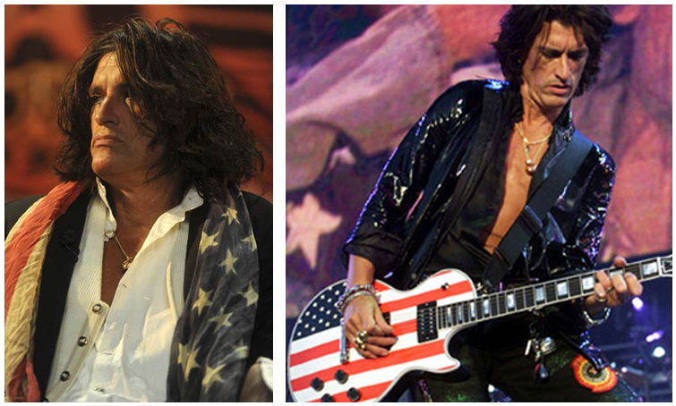 Joe Perry American Flag USA Aerosmith Guitar