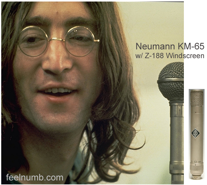 John Lennon Neumann KM56 Microphone Let It Be Album Cover