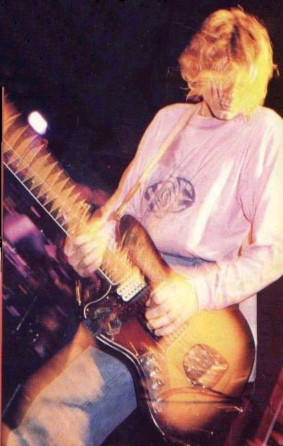 Kurt Cobain Wearing A Hoel Band Shirt Live 1991 Nirvana