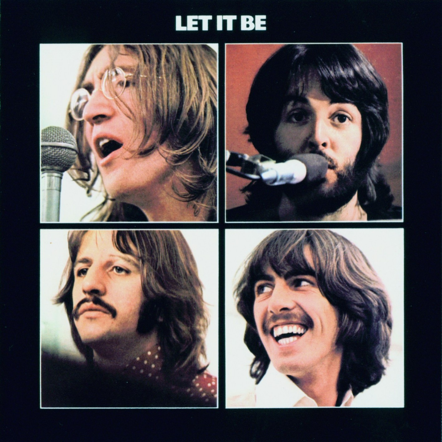 The Beatles Let It Be Album Cover Microphones