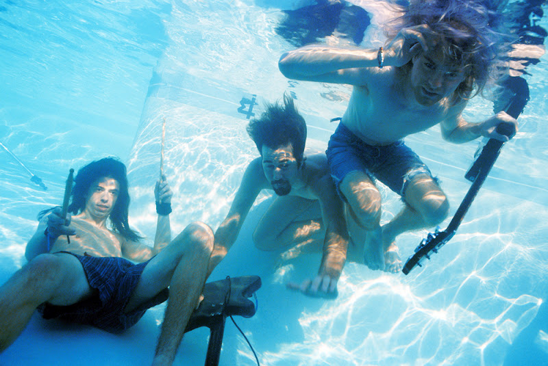 Nirvana Nevermind Pool Photos Cobain Grohl Novoselic Kirk Weddle 1991