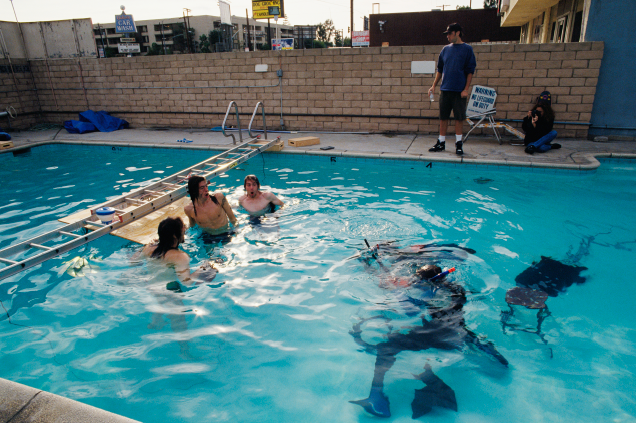 Nirvana Nevermind Pool Photos Underwater North Hollywood California Kirk Weddle Kurt Cobain Dave Grohl Krist Novoselic