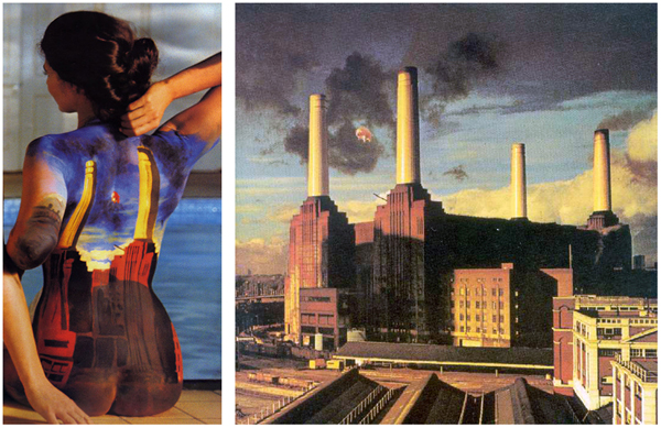 Pink Floyd Back Catalogue Animals Body Paint Models