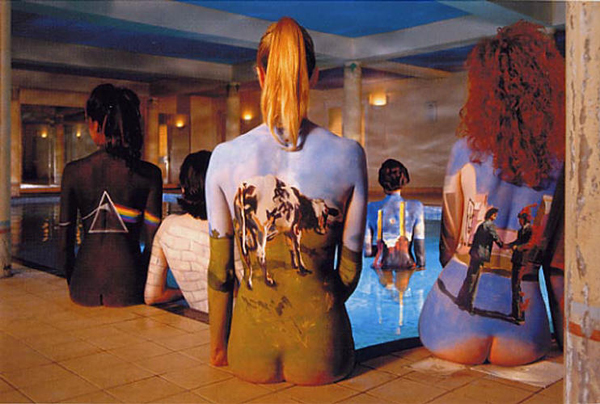 Pink Floyd Back Catalogue Girls Body Paint Photo Alternative