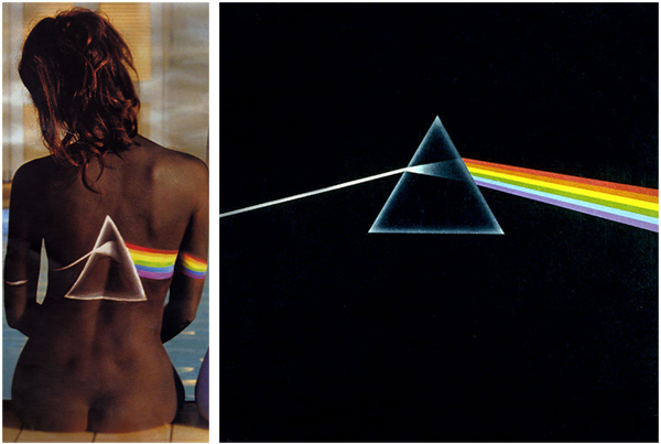 Pink Floyd Back Catalogue Dark Side Of The Moon Body Paint Model