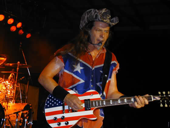 Ted Nugent American Flag USA Guitar