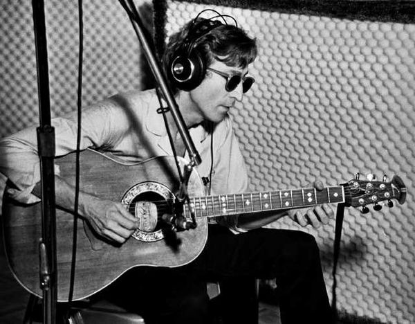 John Lennon Acoustic Album Photo Ovation Guitar