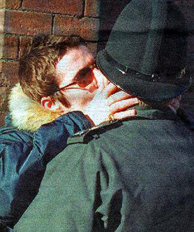 Liam Gallagher Oasis Kissing Police Man
