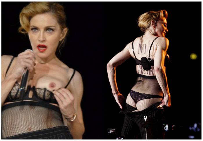 Madonna Flashing 2012 MDNA Tour