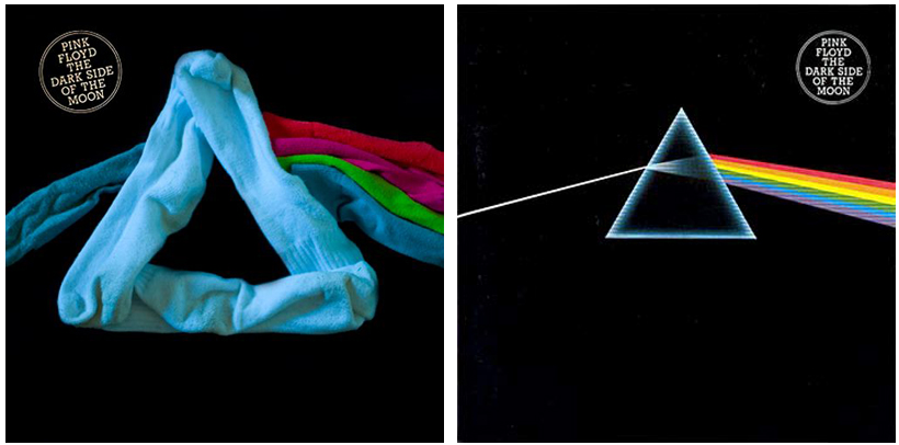 Pink Floyd Dark Side of The Moon Socks Album Cover