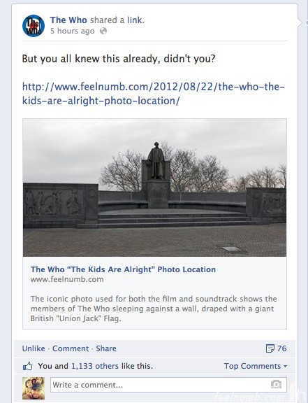 The Who Official Facebook The Kids Are Alright feelnumb.com