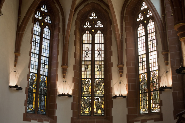Alte Nikolaikirche Windows Jim Morrison Frankfurt Germany Church