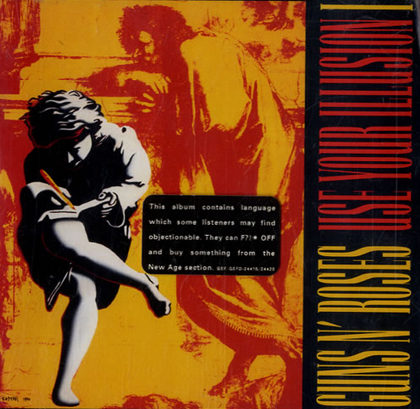 Guns N' Roses Use Your Illusion Warning Sticker Parental Advisory
