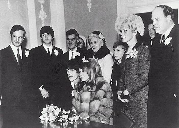 Looking at the photos from the day  it looks like McCartney might have    George Harrison And Pattie Boyd Wedding