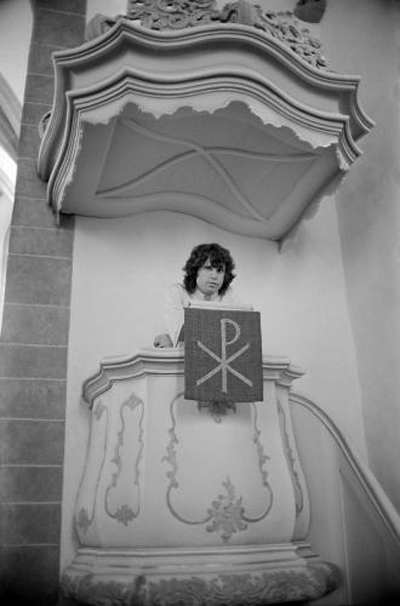 Jim Morrison Church Pulpit Alten Nikolaikirche 1968 Frankfurt Germany