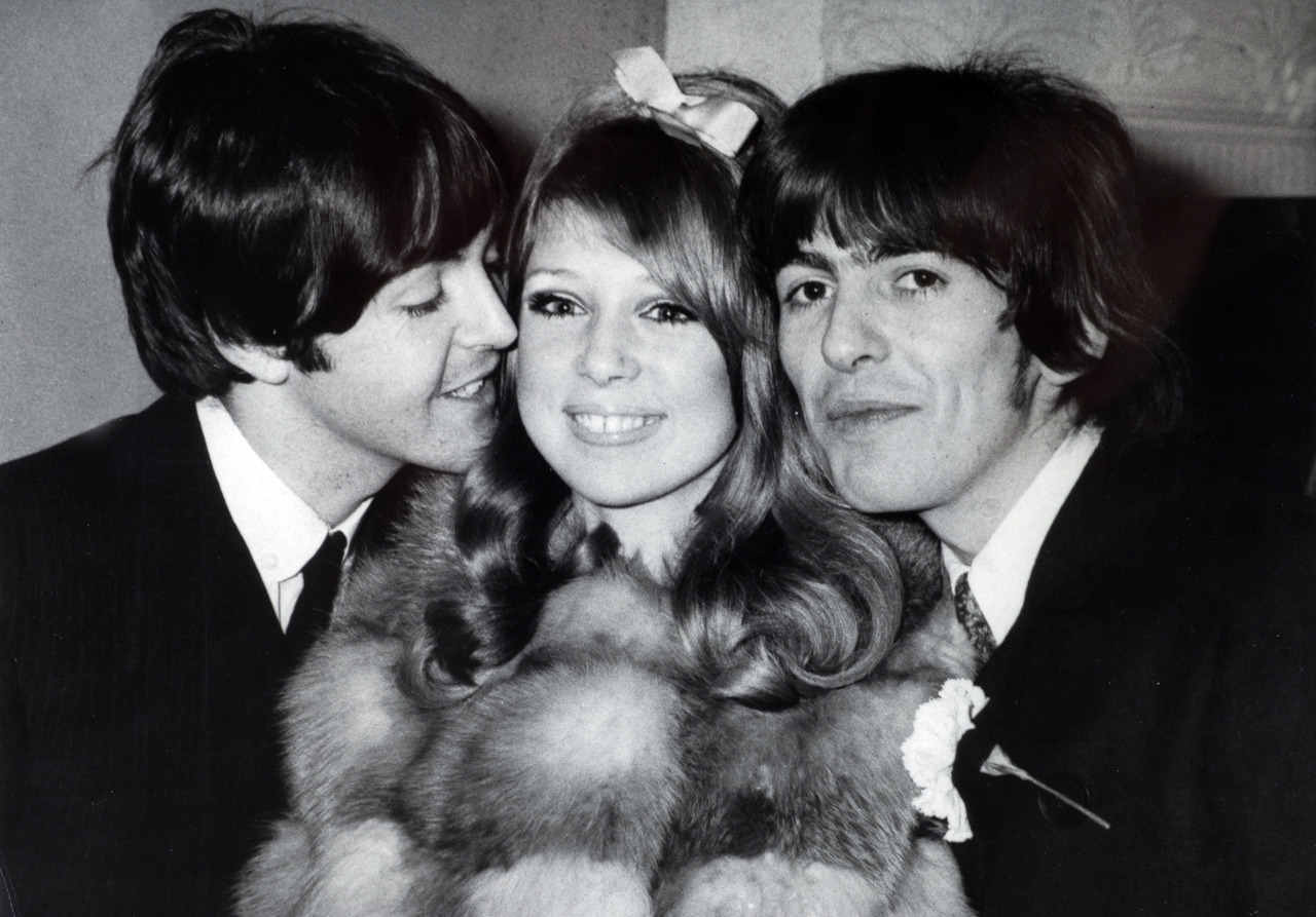 happy and getting a bit too close to the new Mrs  George HarrisonGeorge Harrison And Pattie Boyd Wedding