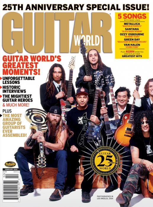 Guitar World Magazine 25 Anniversary February 2005 Issue