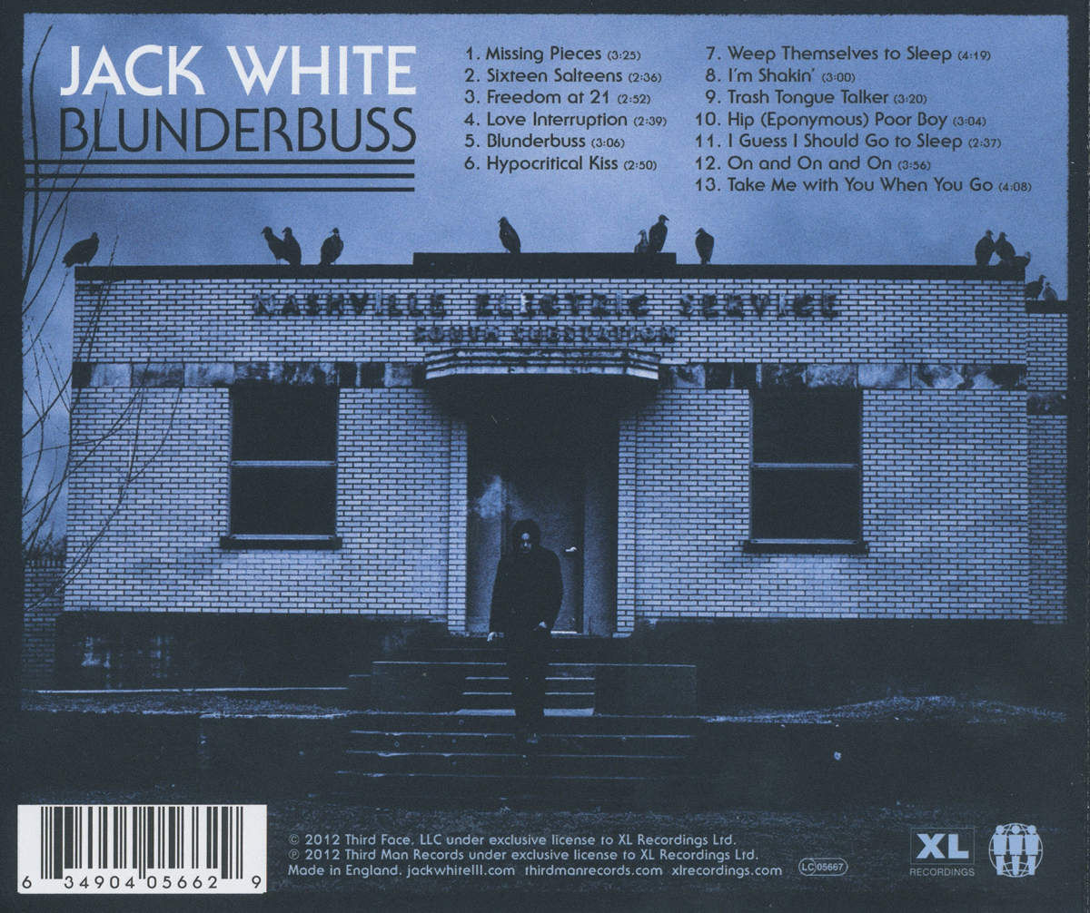 jack white blunderbuss album back cover location nashville electric service south substation
