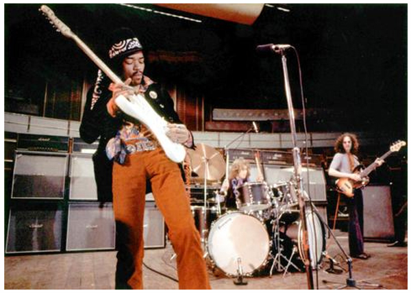 Jimi Hendrix Royal Albert Hall Hound Dog February 18, 1969 Backstage