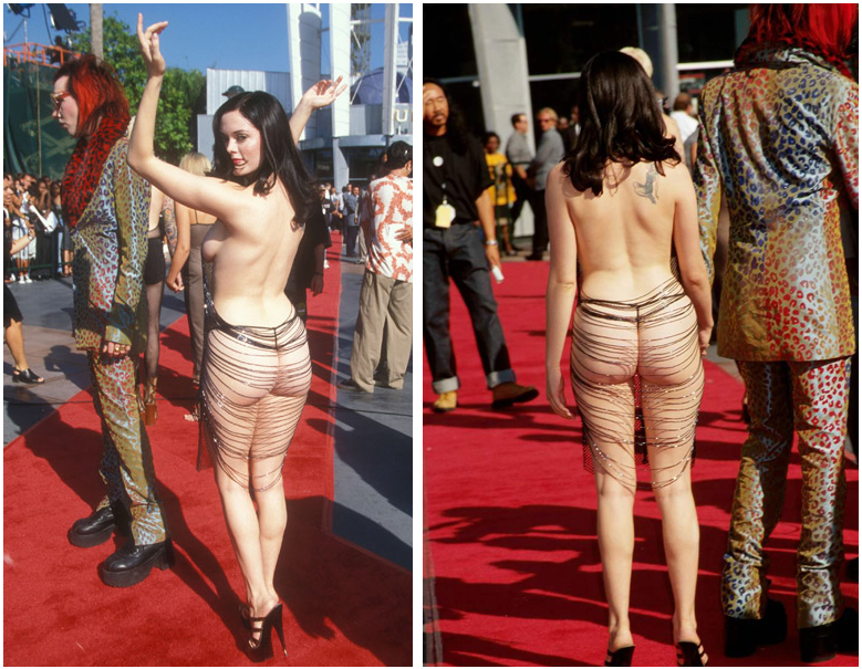 Marilyn Manson Rose McGowan 1998 MTV Movie Awards