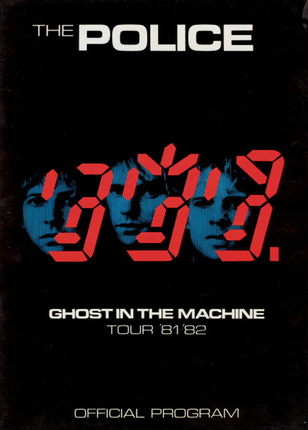 The Police 1981 Ghost In The Machine Tour Program 666