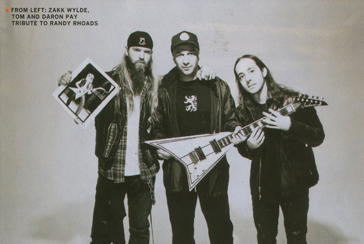 Zakk Wylde Tom Morello Daron Malakian Randy Rhodes Guitar World February 2005