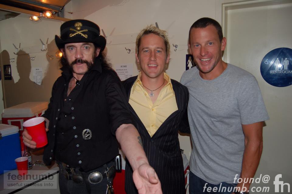 Lemmy Foo Fighters 2006 Chris Shifflet Lance Armstrong Backstage