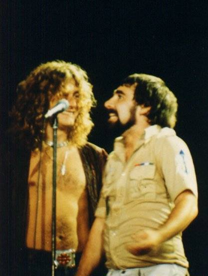 Keith Moon The Who Led Zeppelin Robert Plant 1977
