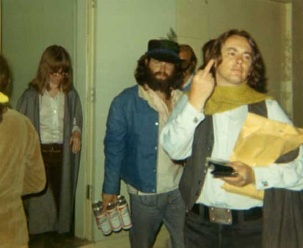 Jim Morrison Pamela Courson Budweiser Michael McClure Party Beard