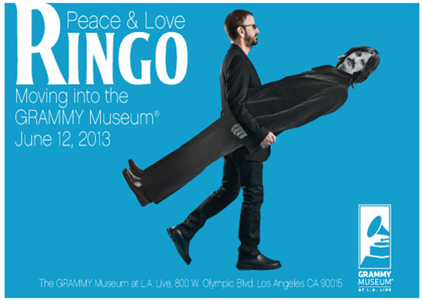 Ringo Starr Peace And Love Grammy Museum 2013 Cutout