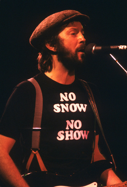 Eric Clapton Oakland 1978 No Snow No Show Cocaine Shirt