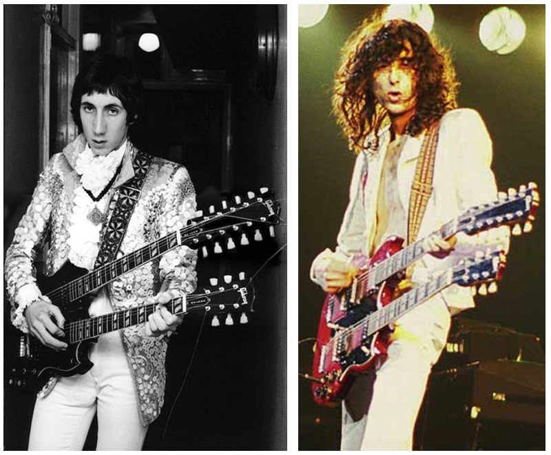 Jimmy Page Pete Townshend The Who Led Zeppelin Rivalry