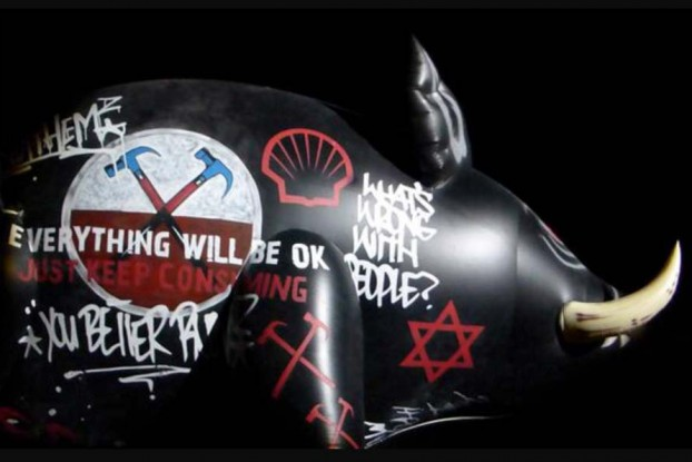 roger Waters inflatable Pig Star Of David The Wall