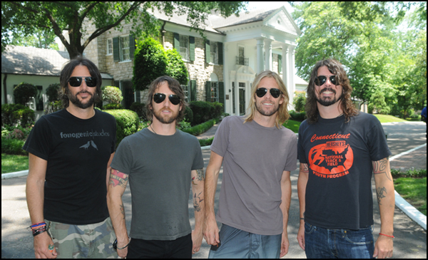 Foo Fighters Dave Grohl Taylor Hawkins Shifty Graceland Elvis Presley