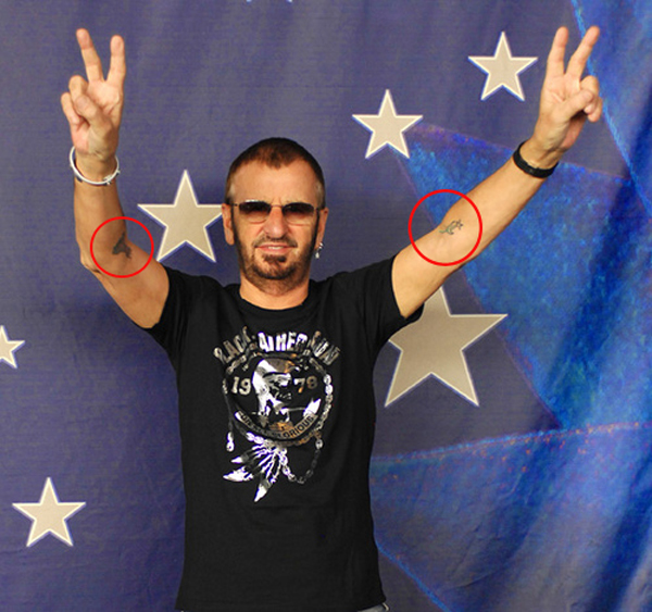 Ringo Starr Forearm Tattoos The Beatles