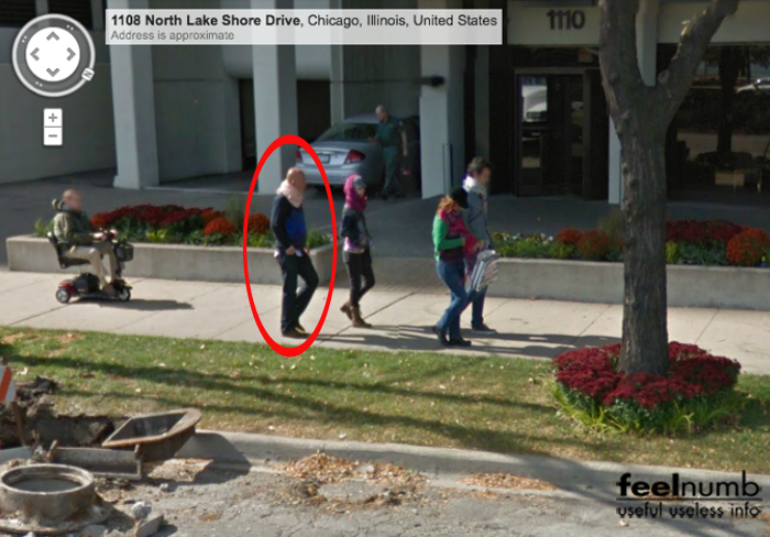 Billy Corgan Smashing Pumpkins Spotted Google Street View