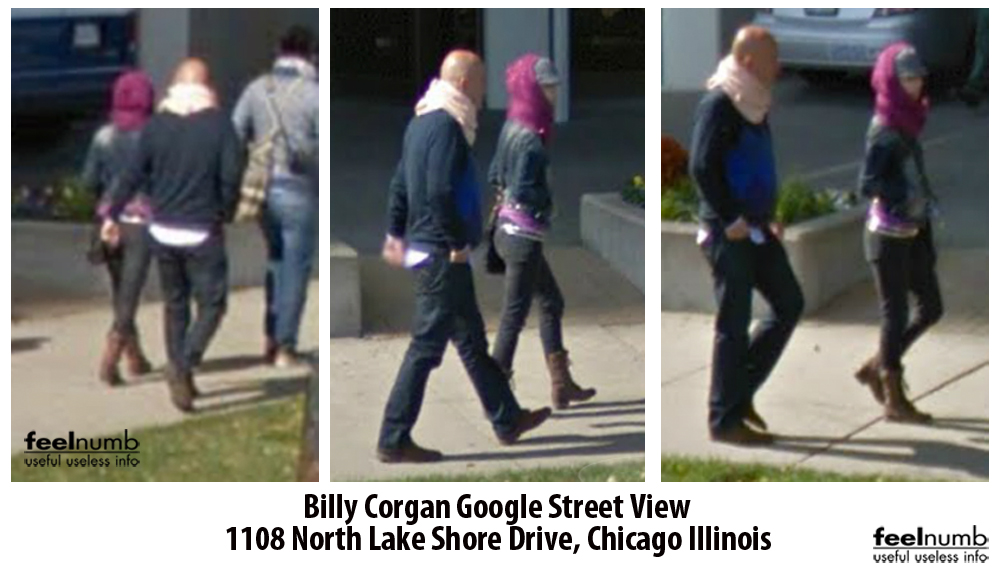 Billy Corgan Smashing Pumpkins Google Street View Camera