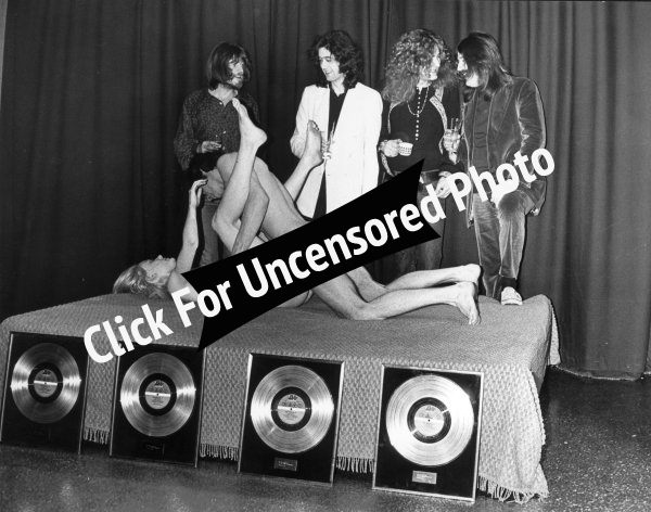 Led Zeppelin Gold Record Live Sex Show Stockholm Sweden 1973 Chat Noir club