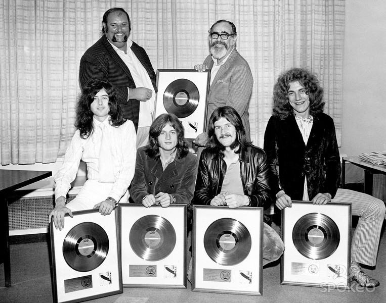 Led Zeppelin Peter Grant ahmet ertegun Gold Record