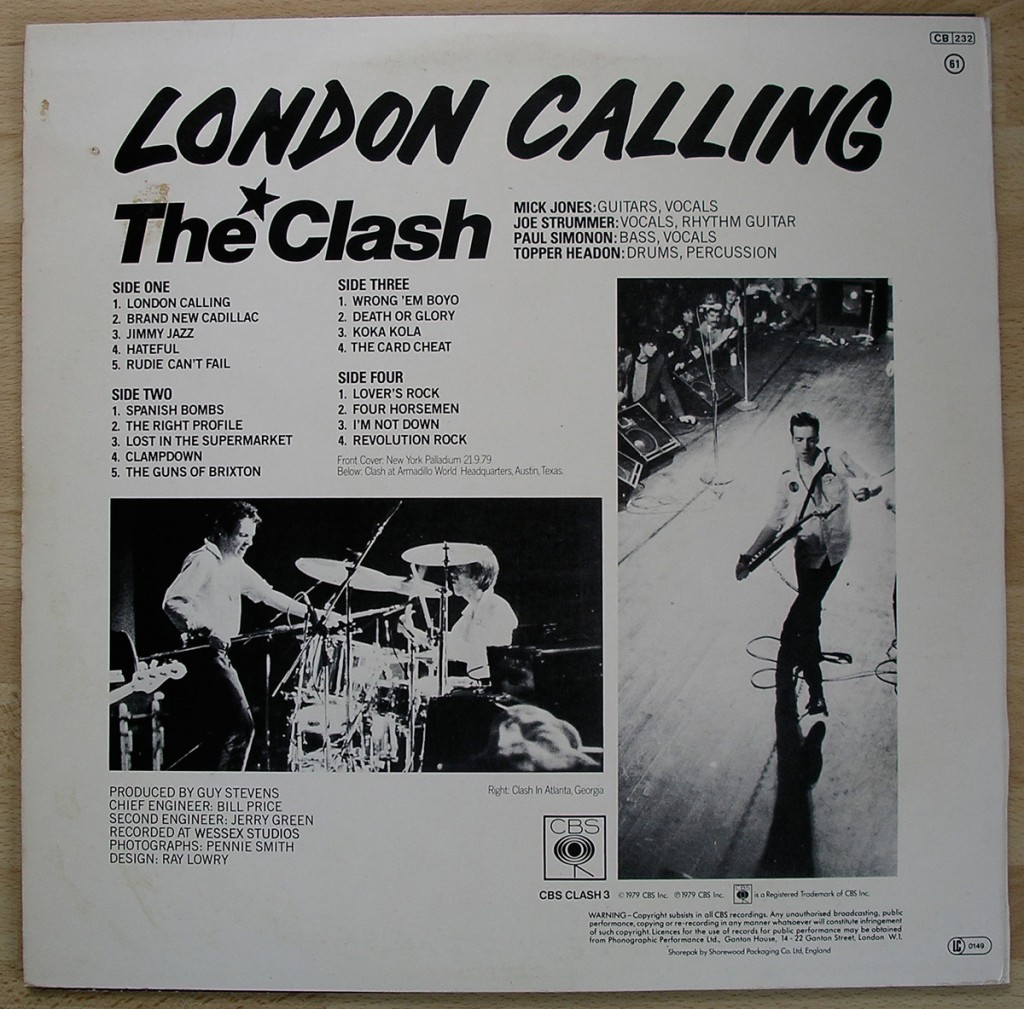 The Clash London Calling Train In Vain