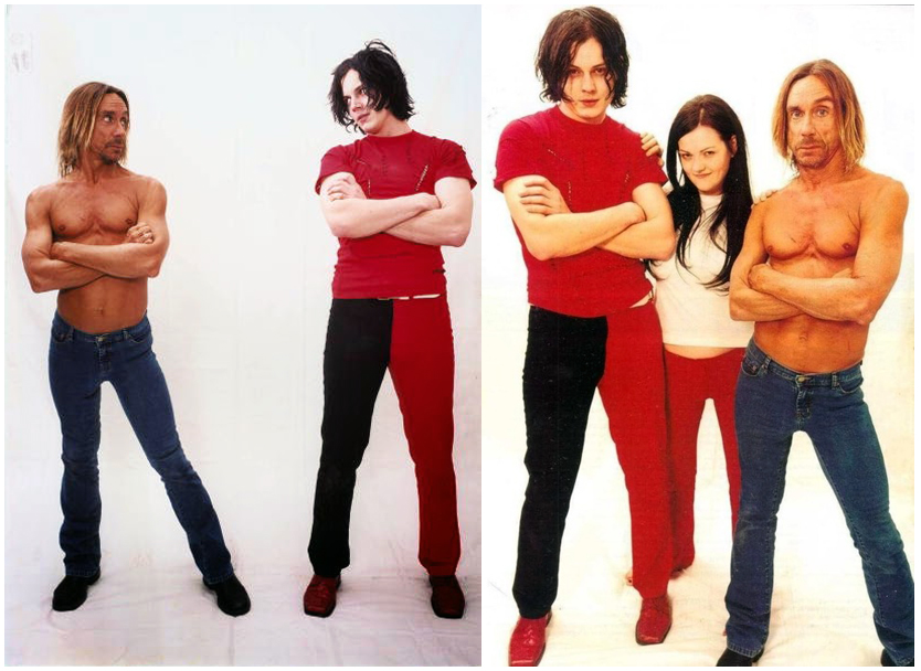 Iggy Pop Meg White Jack White The White Stripes The Stooges