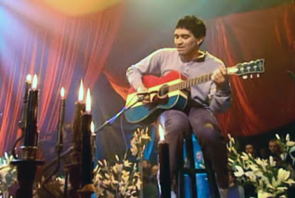 Pat Smear Red White Blue Guitar Buck Owens Nirvana  MTV Unplugged