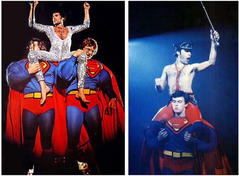 Freddie Mercury Queen Superman Shoulders