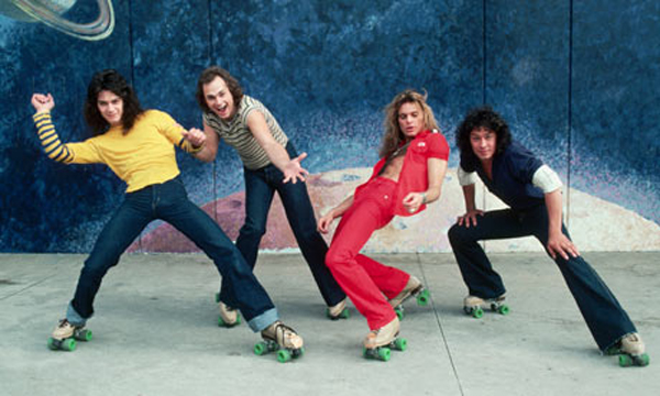 Van Halen 1978 Roller Skates Band Photo