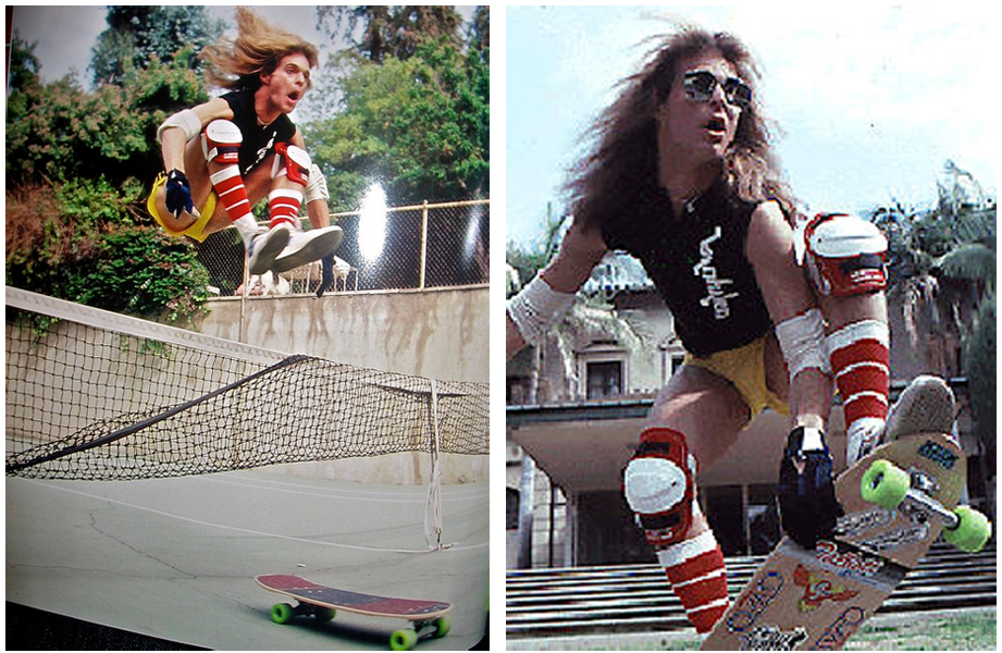 David Lee Roth Skateboarding