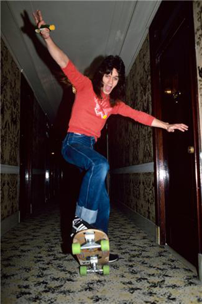 Eddie Van Halen Skateboarding Paul McCartney Wings 1979