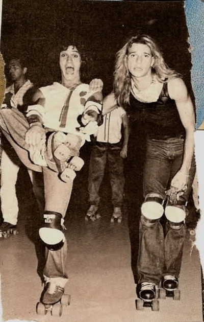 Eddie Van Halen David Lee Roth Roller Skating